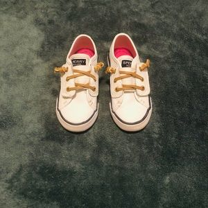 Sperry toddler size 7.5 white